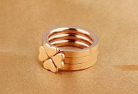 """Кольцо розовое золото """"Клевер"""" 7, фото 6"""