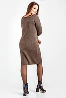 Теплое платье миди с вставкой кружева (S/M)