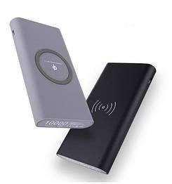 Зовнішній акумулятор з бездротовою зарядкою 10000 mAh Power Bank Qi