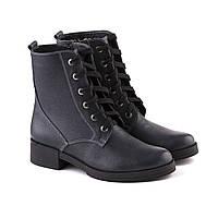 VM-Villomi Кожаные ботинки на шнуровке синие