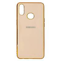 Чехол Glass TPU для Samsung A10s / A107 rose gold
