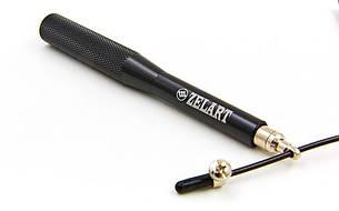 Скакалка скоростная Кроссфит с подшипником и стальным тросом с алюм. ручками FI-7222, фото 2