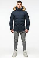 Мужская зимняя куртка Braggart Youth 25780 тёмно-синий