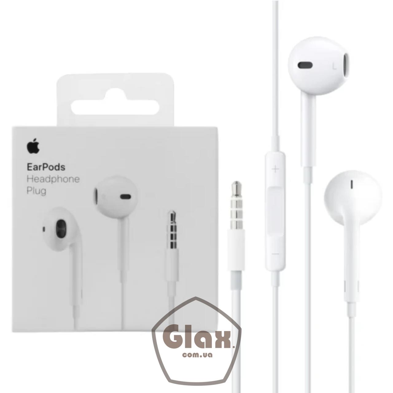 Навушники Apple EarPods дротові 3.5 mm (MD827)