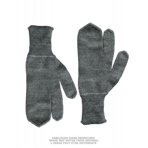 "Перчатки зимние швейцарские с тремя пальцами ""SWISS WOOL GLOVES 3-FINGERS"", [029] Grey"