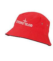 Панама Stone Island, красная |  лето, как оригинал, фото 1