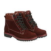 VM-Villomi Яркие бордовые ботинки зимние на шнуровке