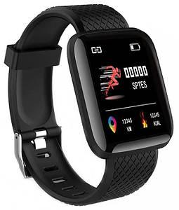 Смарт часы, Умные фитнес часы спортивные (Smart Watch 116+) черные