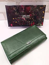 Женский кошелек-визитница BALISA из натуральной кожи (зеленый)