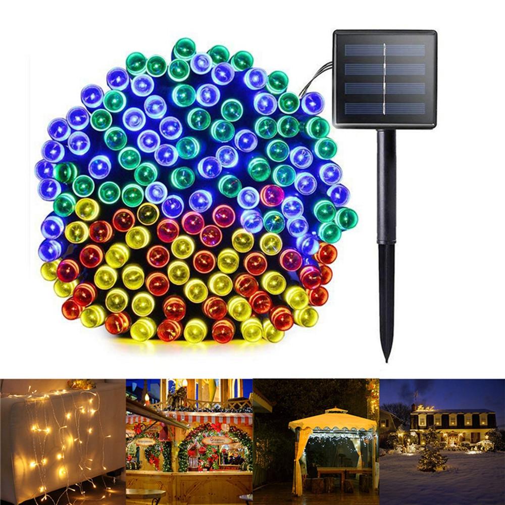 6M 8 Режимы Солнечная Powered 40 LED String Light На открытом воздухе Christmas Holiday Лампа - 1TopShop