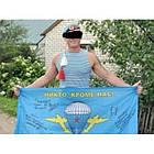 Майка-тельняшка ВДВ (голубая) безрукавка, [1159] Синий, фото 5
