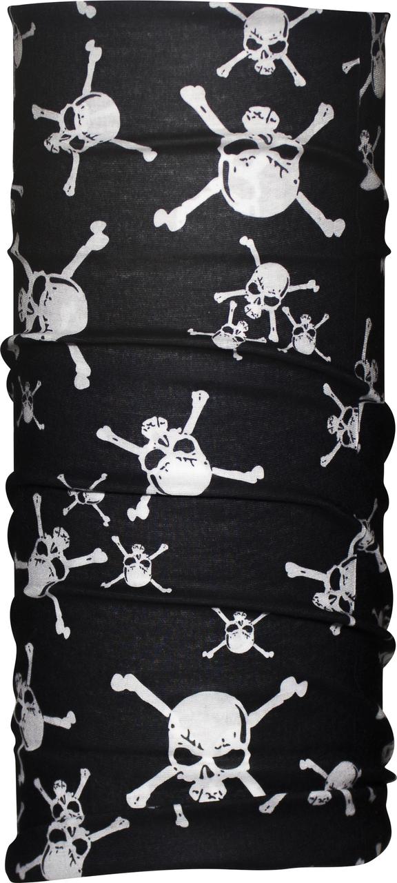 Бандана-трансформер (Бафф) JiaBao Черный с черепами (HB-F016/1)