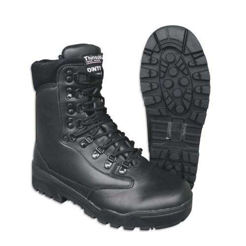Ботинки тактические кожаные (муж.), [019] Black