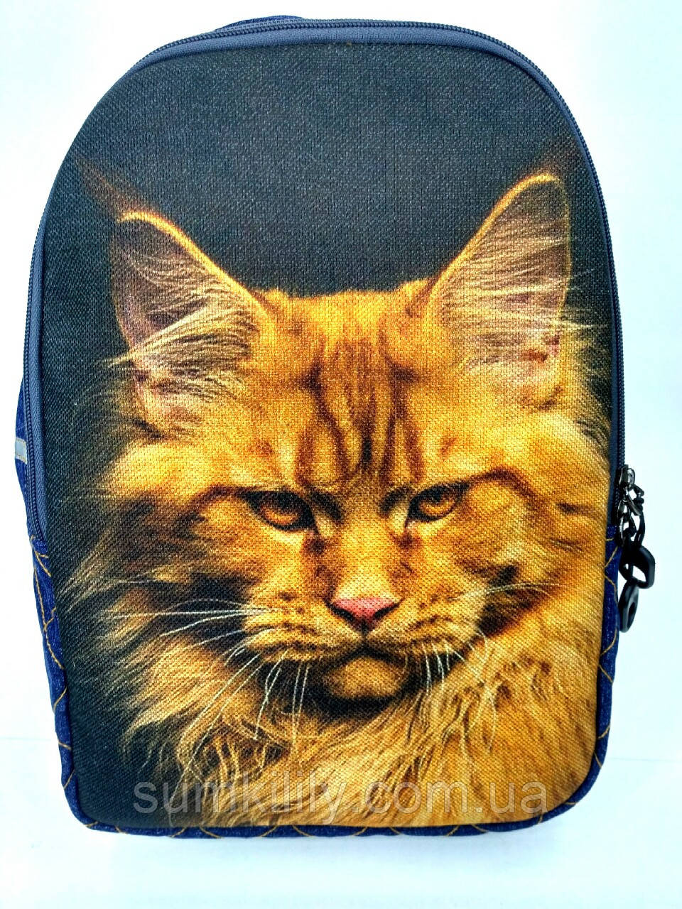 Джинсовый рюкзак МЕЙНКУН рыжий