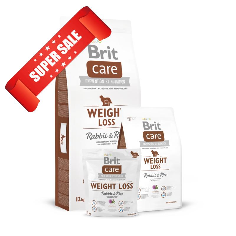 Сухой корм для собак Brit Care Weight Loss Rabbit & Rice 12 кг