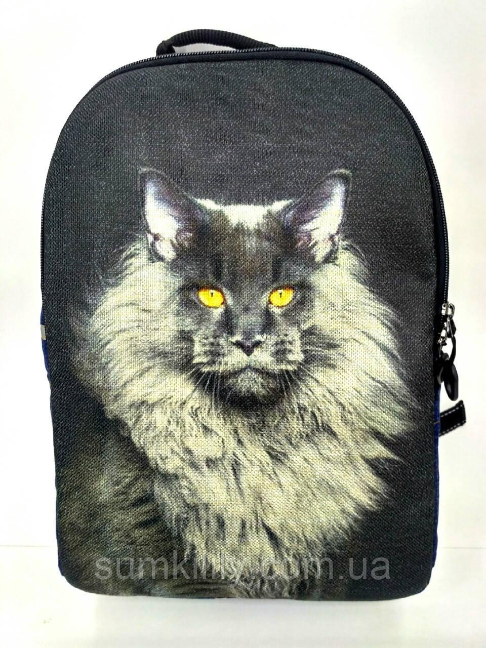 Джинсовый рюкзак МЕЙНКУН палевый, фото 1