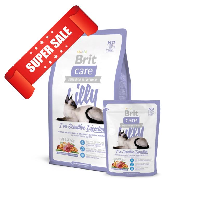 Сухой корм для котов Brit Care Cat Lilly I've Sensitive Digestion 2 кг