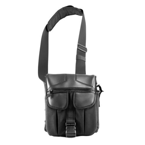 "Оперативная тактическая сумка ""9Tactical Casual Bag M 2018 ECO Leather"", [019] Black"