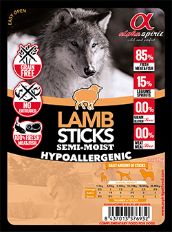 Лакомство для собак Alpha Spirit Sticks Lamb 40 г х 16 шт