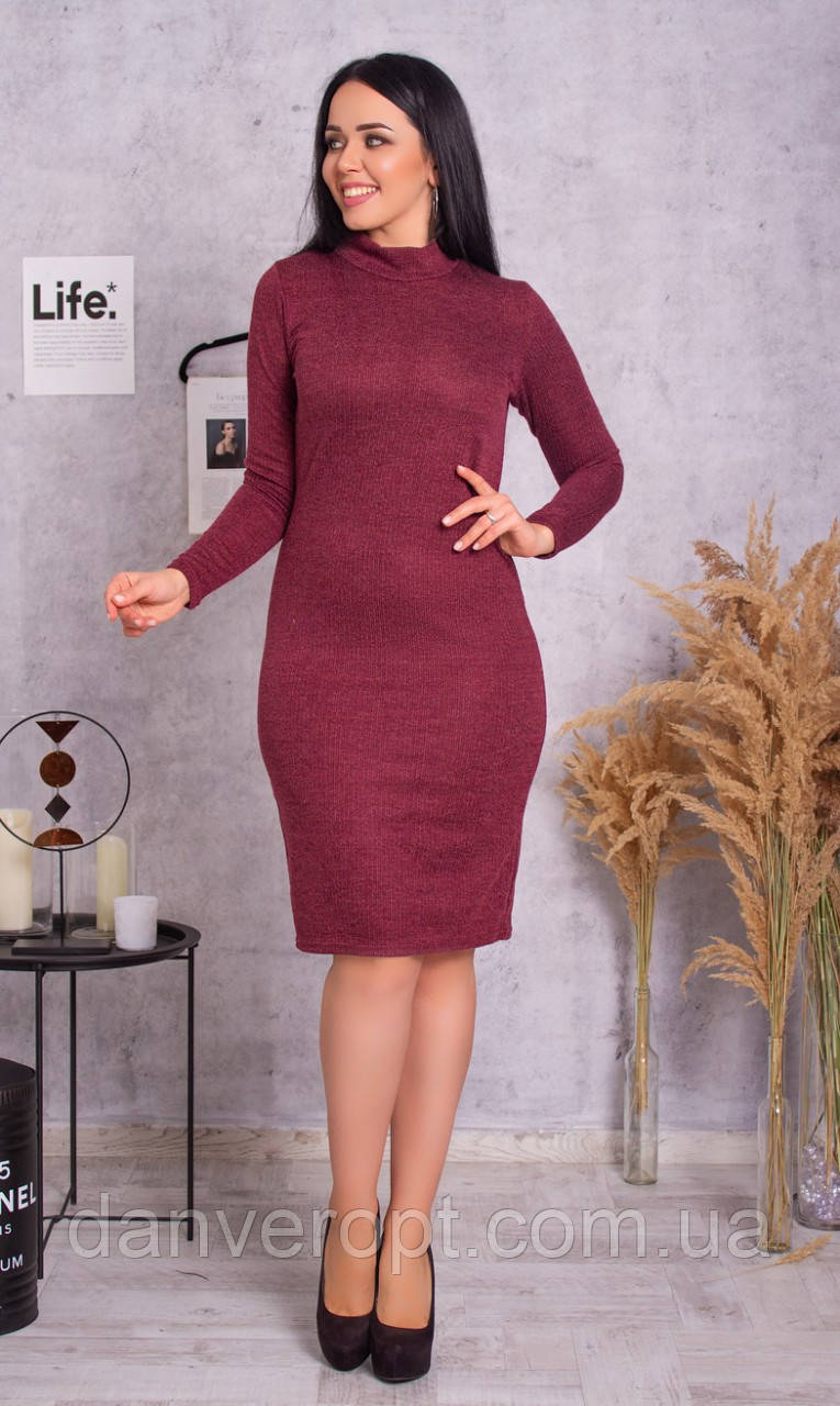 Платье-гольф женское стильное размер 50-56 купить оптом со склада 7км Одесса