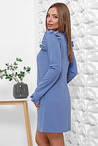 Нарядное платье свободного кроя мини с рюшами, фото 3