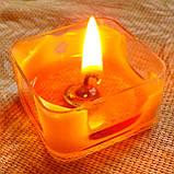 Квадратная прозрачная восковая чайная свеча для аромаламп и лампадок; натуральный пчелиный воск, фото 10
