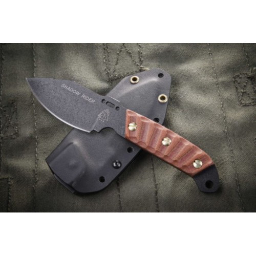 "Нож ""TOPS KNIVES Shadow Rider"", [116] Battle Brown"