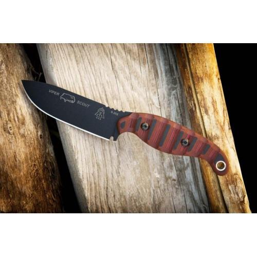 "Нож ""TOPS Knives Viper Scout Red"", [1145] Чёрный/красный"