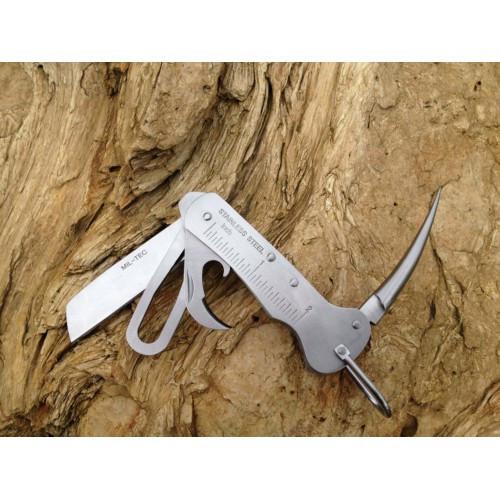 Нож морской со свайкой матовый, [1302] Silver