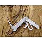 Нож морской со свайкой матовый, [1302] Silver, фото 3
