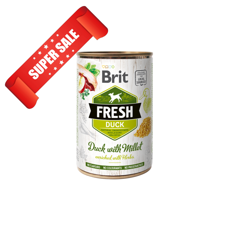 Влажный корм для собак Brit Fresh Duck with Millet 400 г