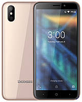 "Смартфон Doogee X50 Gold 1/8 / 5"" IPS 960x480 / MT6580A - 4х1.3GHz / 5/0.3Mp + 5Mp / SD / 2000mAh /"