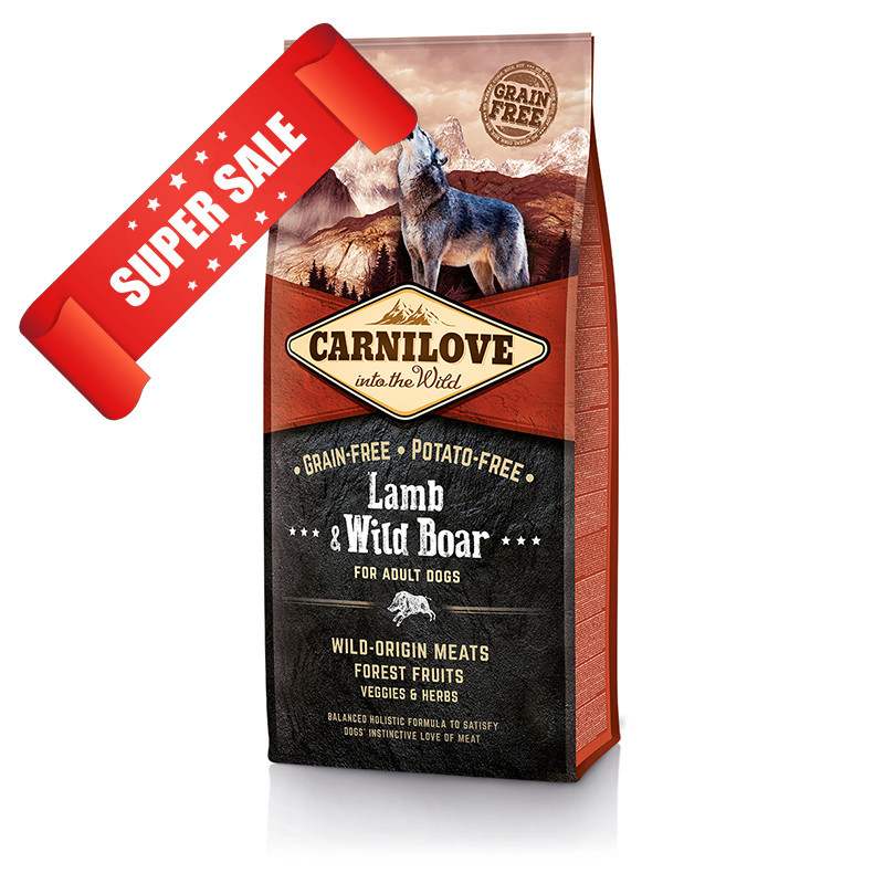 Сухой корм для собак Carnilove Dog Adult Lamb & Wild Boar 12 кг
