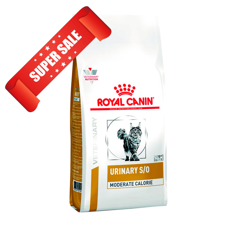 Лечебный сухой корм для кошек Royal Canin Urinary S/O Moderate Calorie 9 кг