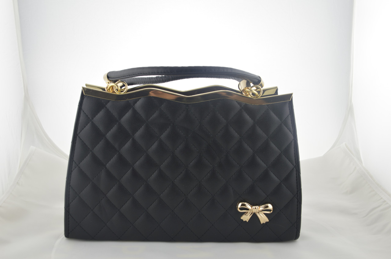 Женская черная сумка эко кожа, фото 1