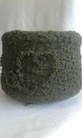Итальянская пряжа букле Cofil art Esagerato 35% Меринос, 10%Альпака, 15%PA, 40%PC 230м/100гр. Зеленый Болотный