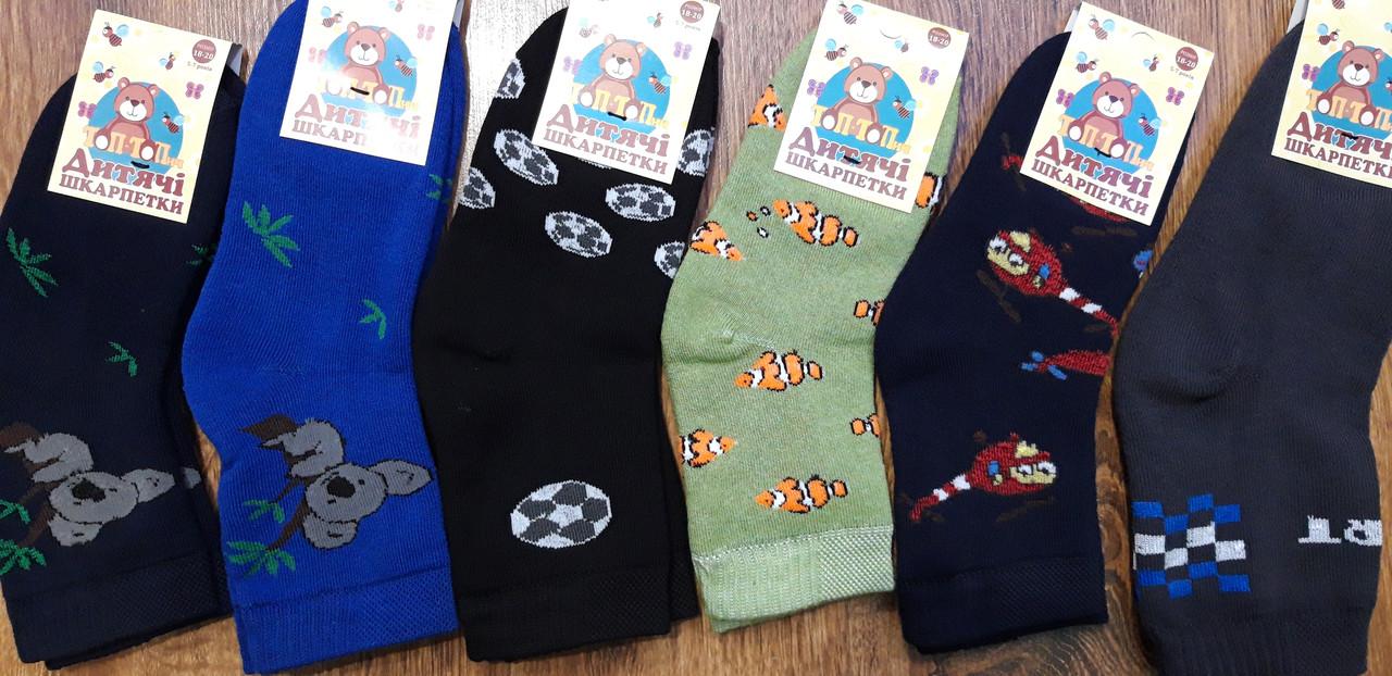 """Шкарпетки дитячі махрові""""Топ-Тап"""" 5-7 років(18-20) хлопчик"""