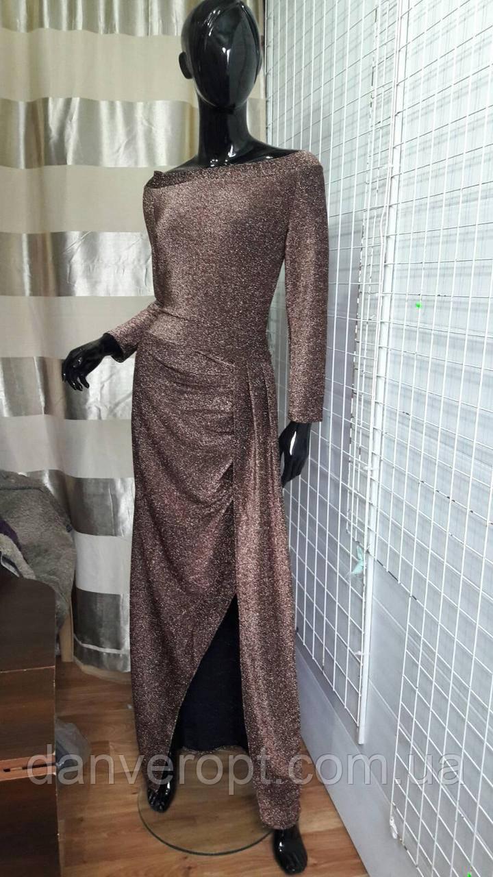 Платье-макси женское стильное на запах размер 44-50 купить оптом со склада 7км Одесса