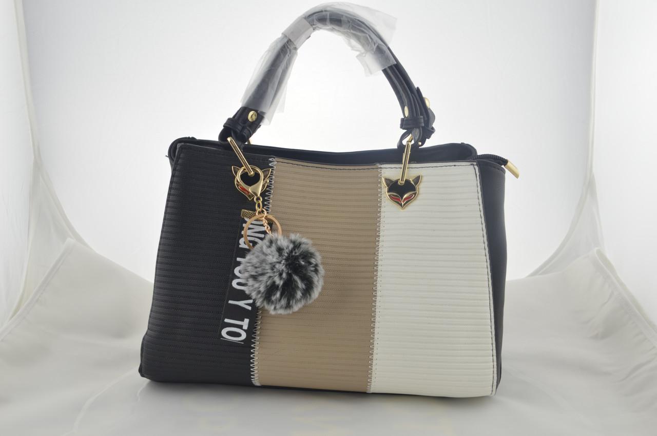 Сумка женская черная эко кожа сумочка