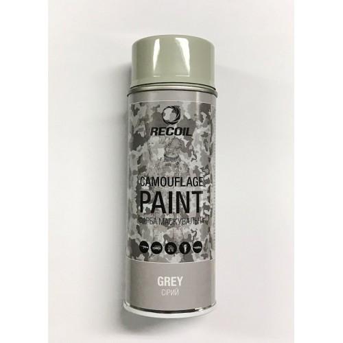 """Краска маскировочная аэрозольная для оружия """"Recoil"""" (серый), [029] Grey"""