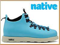 Зимние термо ботинки Native Fitzsimmons Blue (нейтив фитцсиммонс, голубые), термоносок