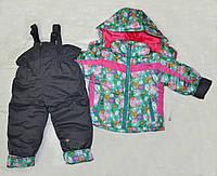 Детский комплект зимний: куртка и полукомбинезон для девочки (Венгрия)