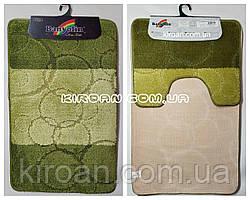 Набор ковриков в ванную комнату BANYOLIN 50x80см и с вырезом 40x50см (цвет зеленый)