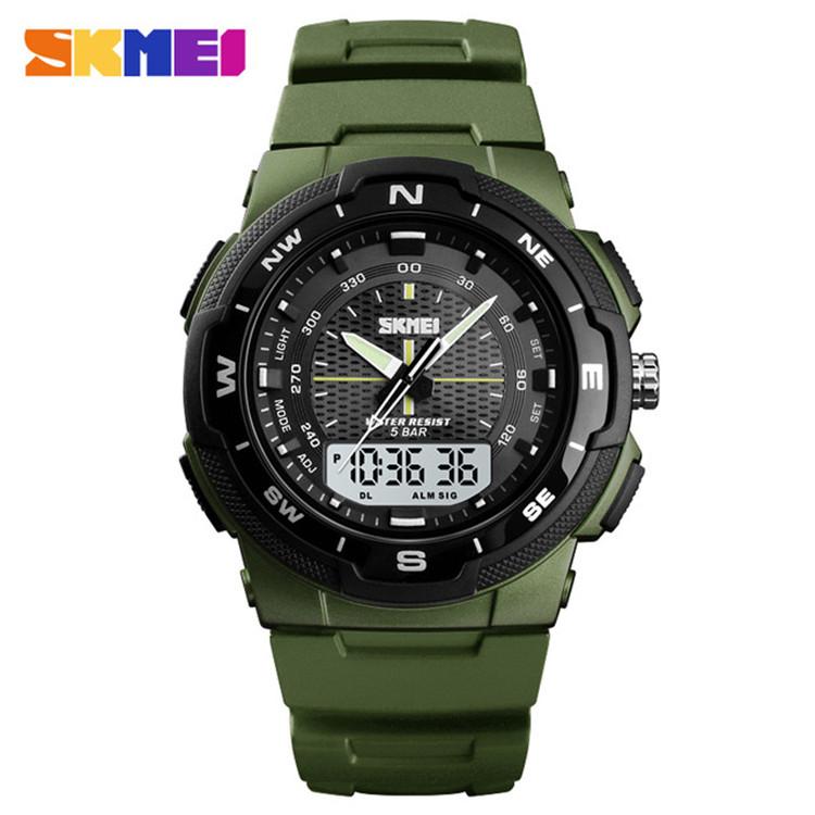Skmei 1454 зеленые мужские спортивные часы