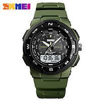 Skmei 1454 зеленые мужские спортивные часы, фото 1
