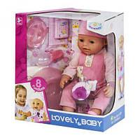 Пупс функциональный warm baby 8040-475 с аксессуарами ( baby born)