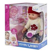 Пупс функциональный warm baby 8040-491 с аксессуарами ( baby born)