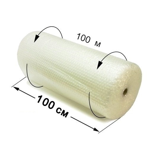 Воздушно пузырчатая пленка 65 мк - 100 см × 100 м