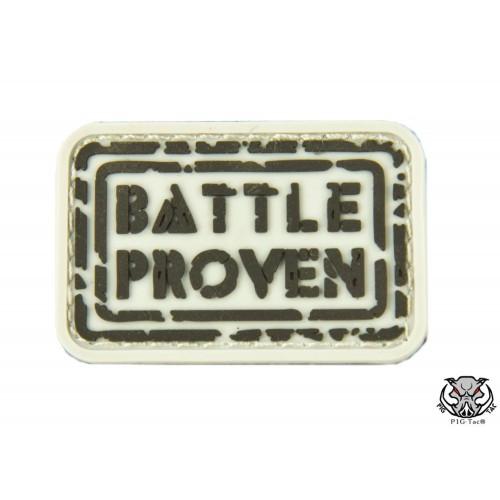 """Шеврон резиновый на липучке P1G-Tac """"Battle proven"""", [1300] Shark"""