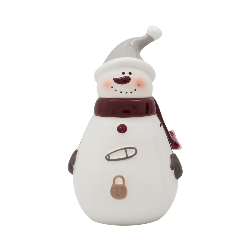 Фигурка Снеговик в колпаке 17см 109014